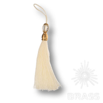 TASSEL GOLD-WHITE Кисточки для мебельных ручек, глянцевое золото