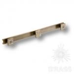 Крючок трехрожковый, латунь с кристаллами Swarovski, старая бронза, 0471-013-3