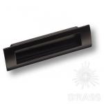Ручка врезная современная классика, черный 96 мм, EMBUT96-14