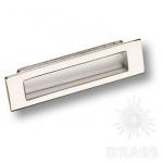 Ручка врезная современная классика, глянцевый никель 96 мм, EMBUT96-02