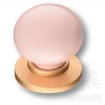 3005-61-PINK Ручка кнопка керамика с металлом, розовый/матовое золото