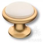 3008-61-L PEARL Ручка кнопка керамика с металлом, перламутровый/матовое золото