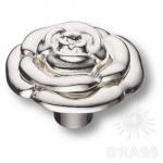15.393.55.15 Ручка кнопка современная классика, глянцевое серебро