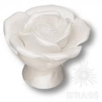 3060-L PEARL Ручка кнопка в форме розы, керамика, перламутровый