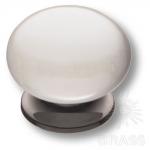 5015-70-L PEARL Ручка кнопка керамика с металлом, перламутровый/графит