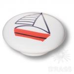 B-105 Ручка кнопка керамика, парусник