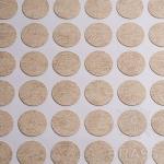 Заглушка-самоклеящаяся Камень Светлый (3706), эксцентрик, d17 (70 шт/лист), D17U3706