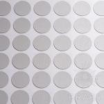 Заглушка-самоклеящаяся Серый (9201), эксцентрик, d17 (70 шт/лист), D17U9201