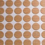 Заглушка-самоклеящаяся Бук Бавария светлый (9501), эксцентрик, d17 (70 шт/лист), D17U9501