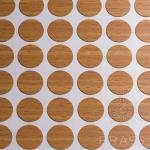 Заглушка-самоклеящаяся Бук Бавария темный (9502), эксцентрик, d17 (70 шт/лист), D17U9502