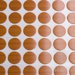Заглушка-самоклеящаяся Вишня оксфорд (9502), эксцентрик, d17 (70 шт/лист), D17U9503