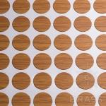 Заглушка-самоклеящаяся Орех миланский (9506), эксцентрик, d17 (70 шт/лист), D17U9506