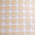 Заглушка-самоклеящаяся Вяз светлый (9525), эсцентрик, d17 (70 шт/лист), D17U9525