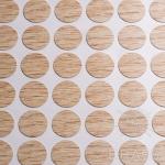 Заглушка-самоклеящаяся Дуб французский (9610), эсцентрик, d17 (70 шт/лист), D17U9610