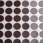 Заглушка-самоклеящаяся Орех Гепланкт (9612), эксцентрик, d17 (70 шт/лист), D17U9612
